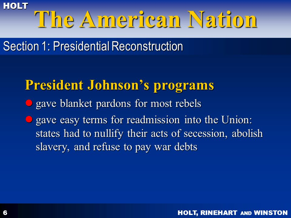 President Johnson's programs