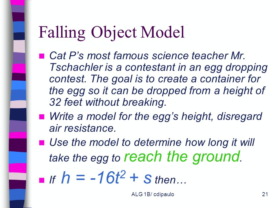 Falling Object Model