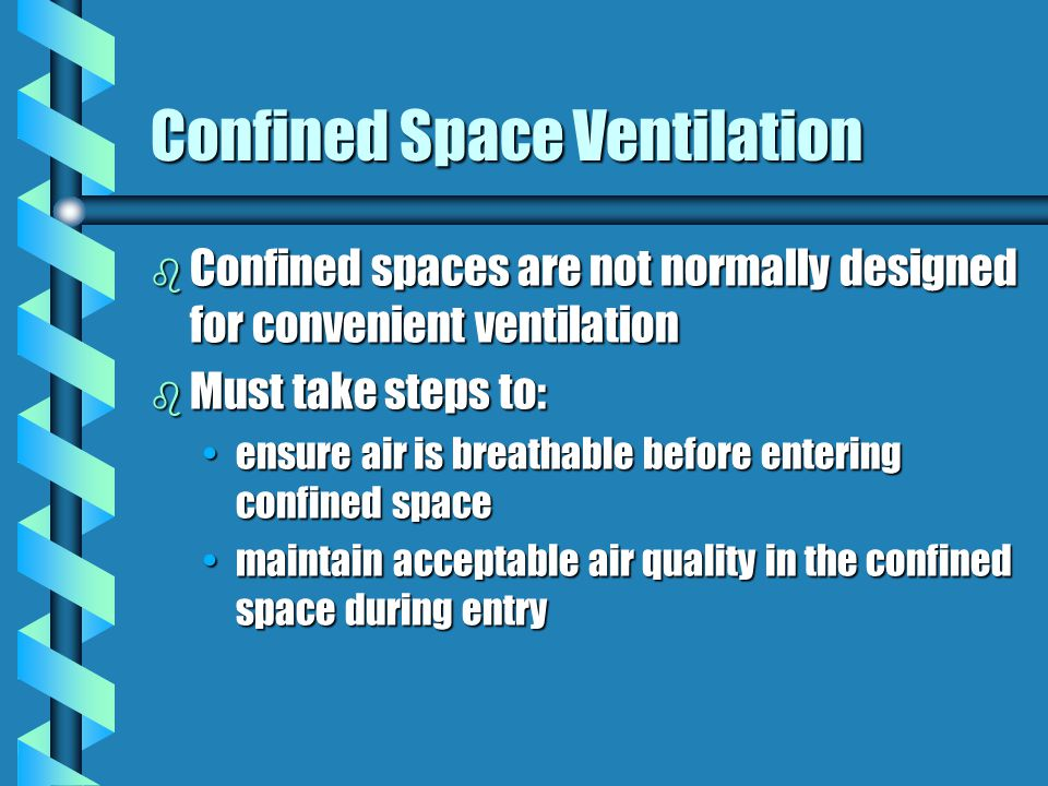 Confined Space Ventilation