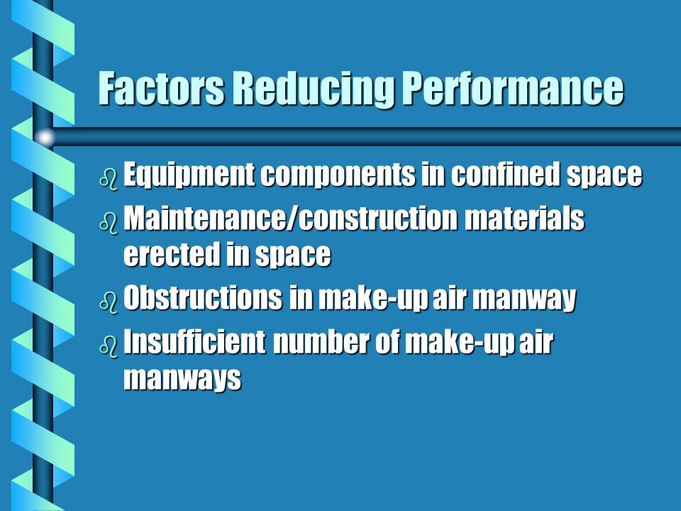 Factors Reducing Performance