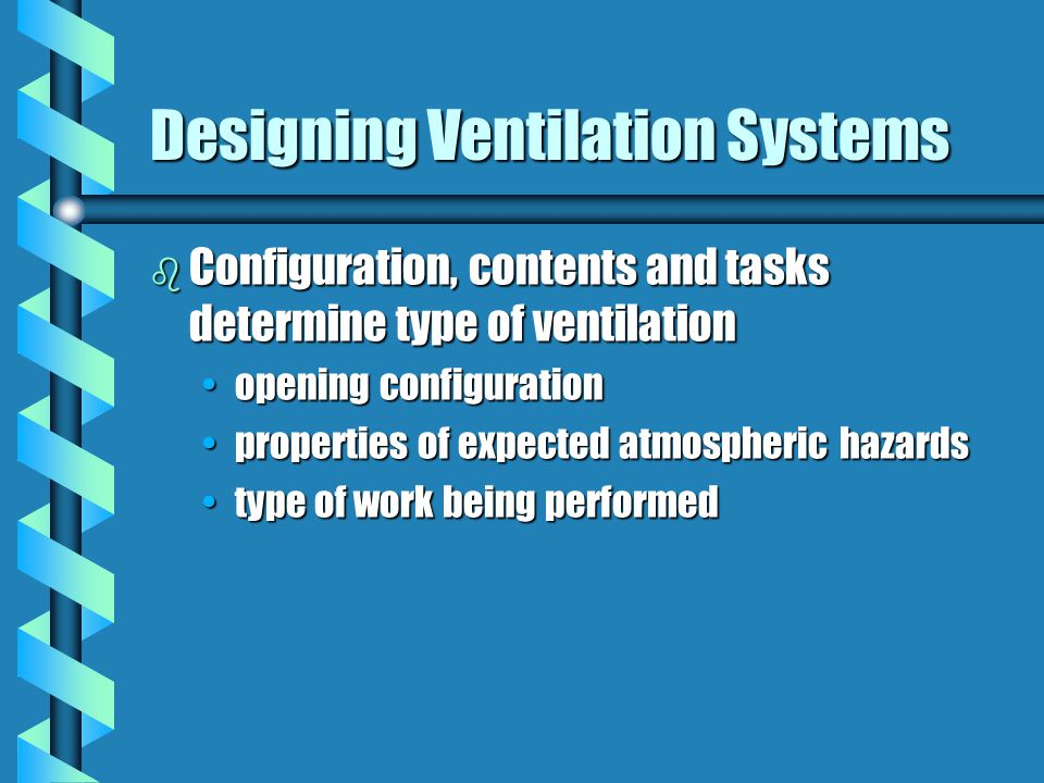Designing Ventilation Systems