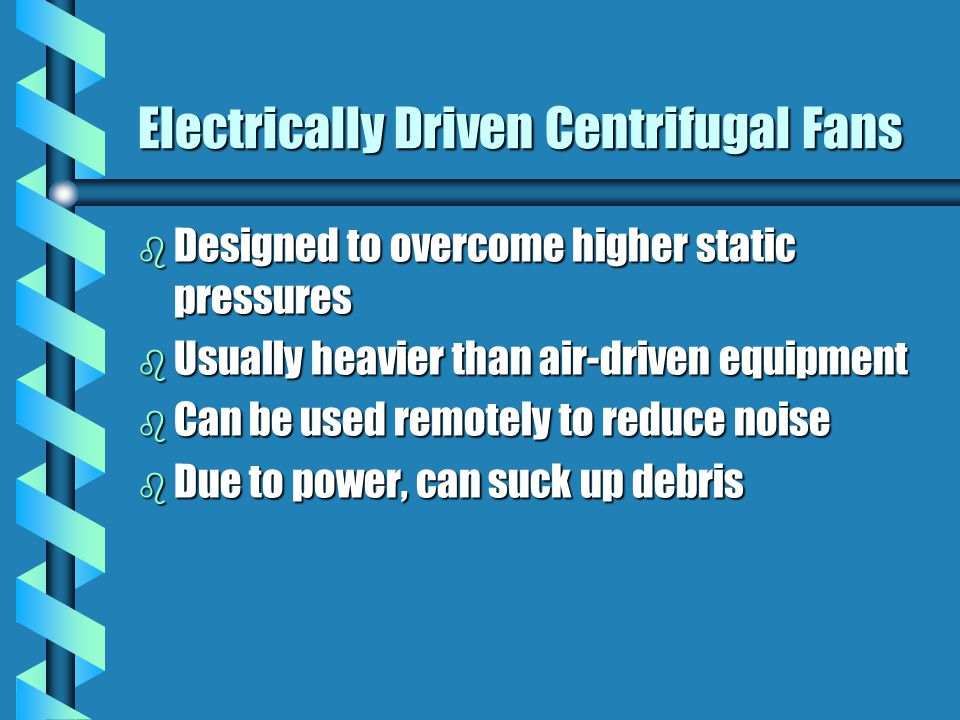 Electrically Driven Centrifugal Fans