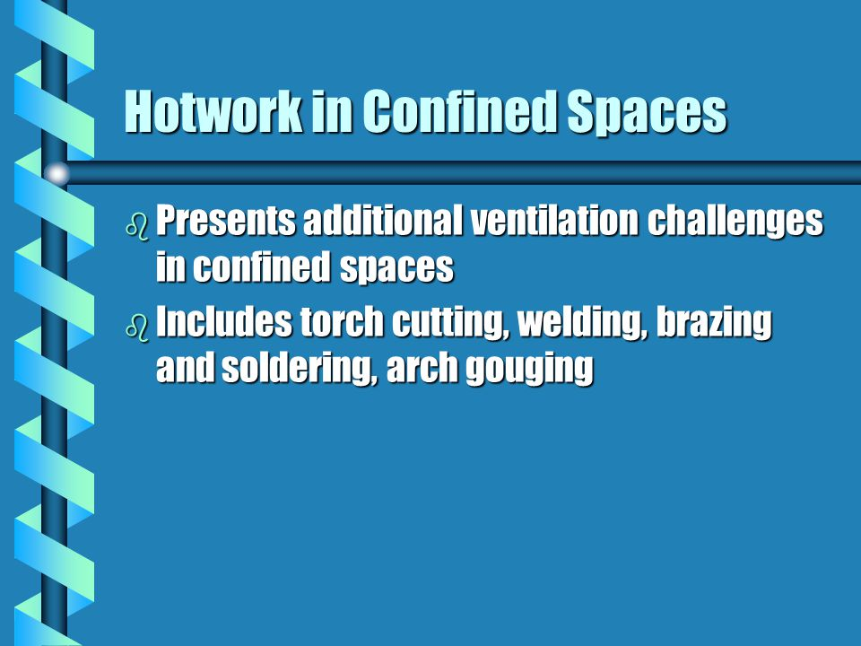 Hotwork in Confined Spaces