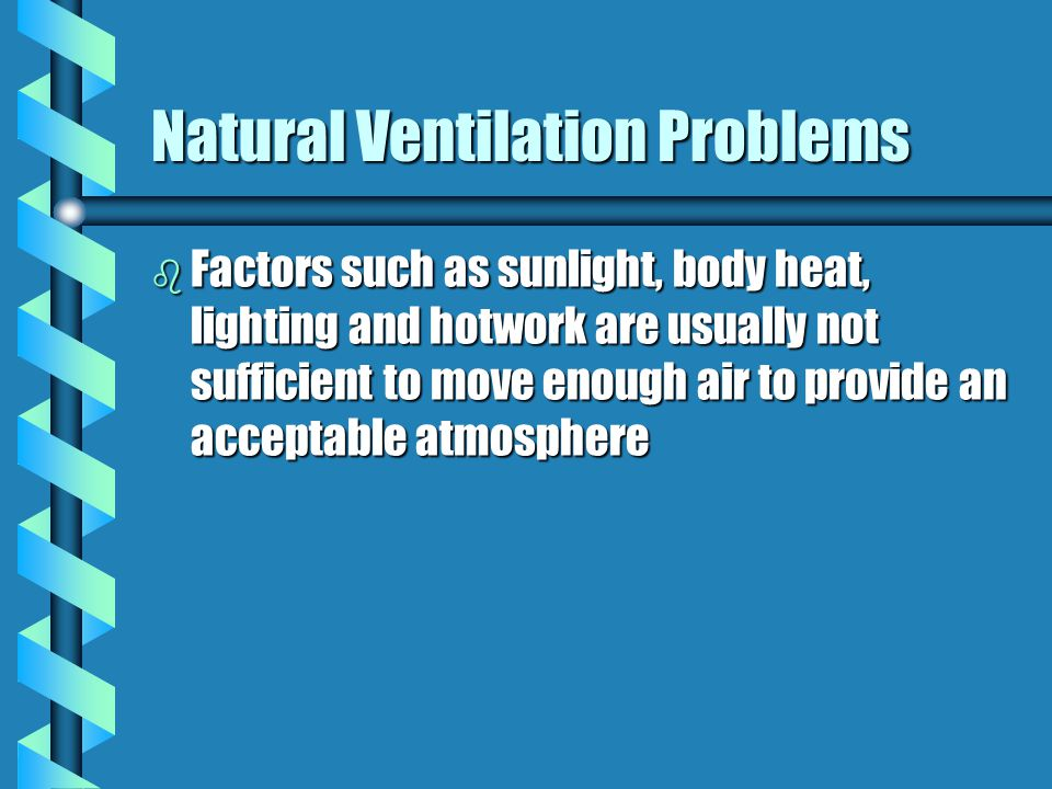 Natural Ventilation Problems