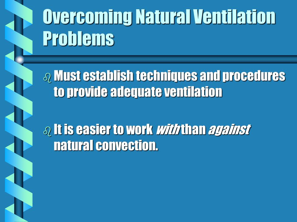 Overcoming Natural Ventilation Problems