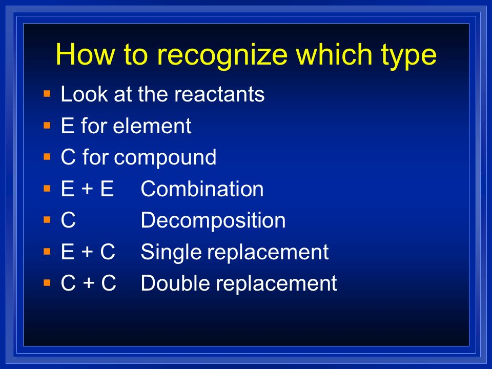 How to recognize which type