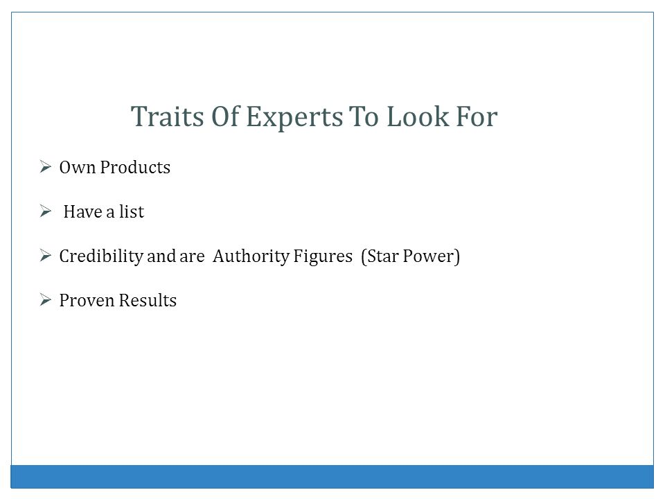 Traits Of Experts To Look For