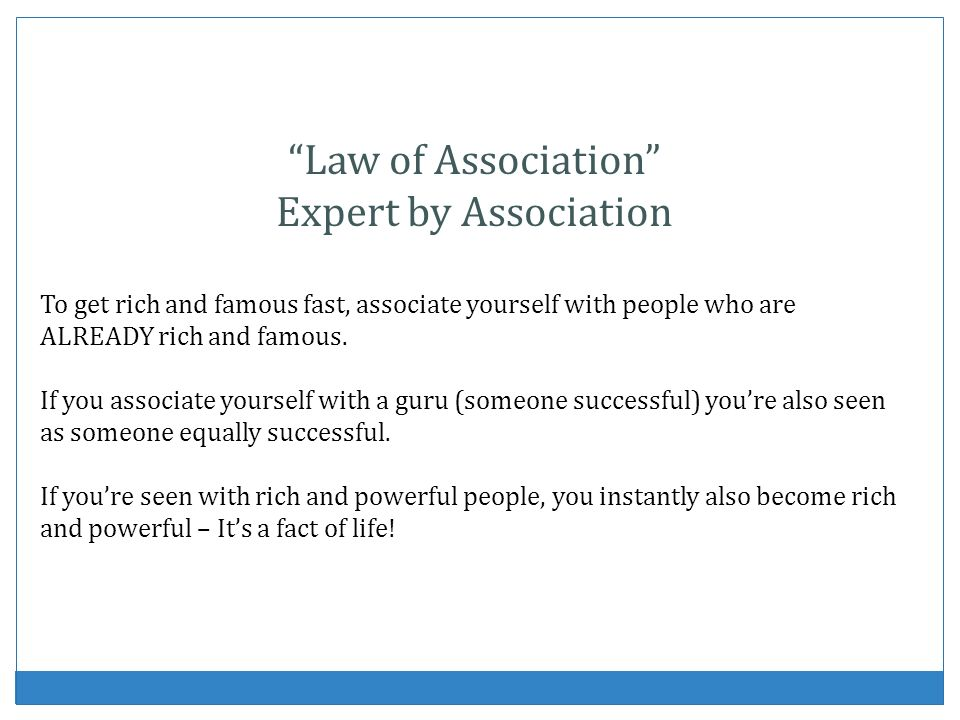 Law of Association Expert by Association
