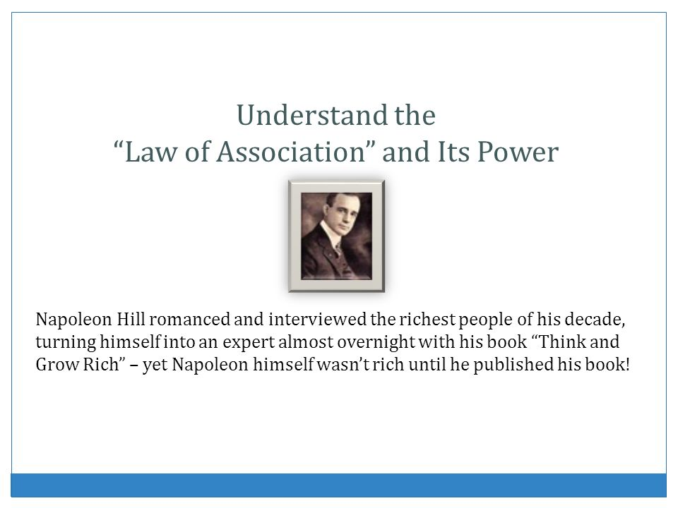 Law of Association and Its Power