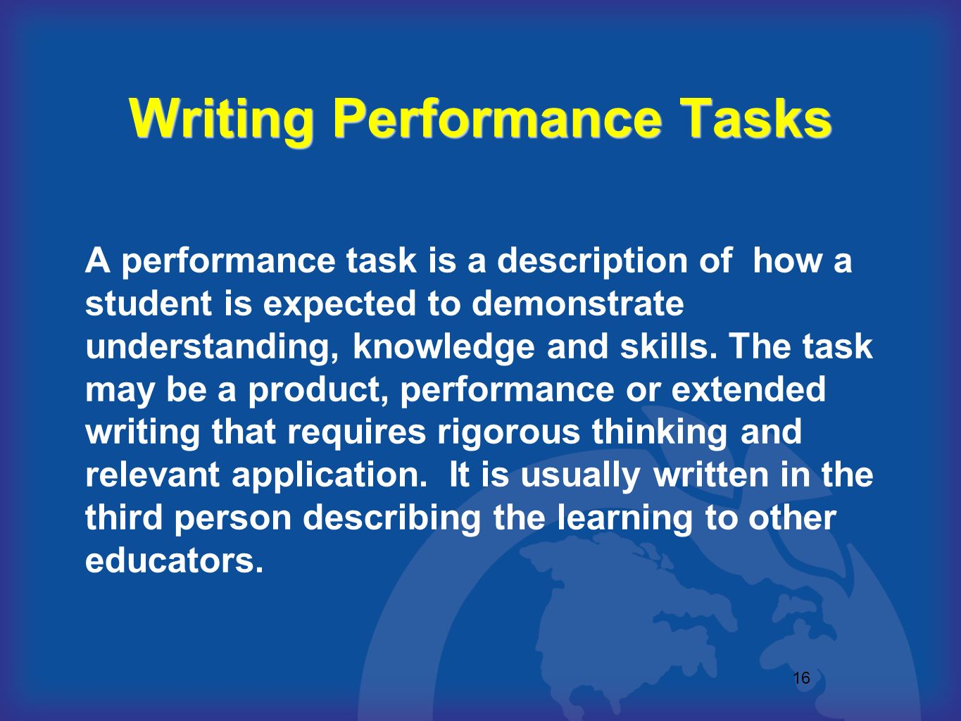 Writing Performance Tasks