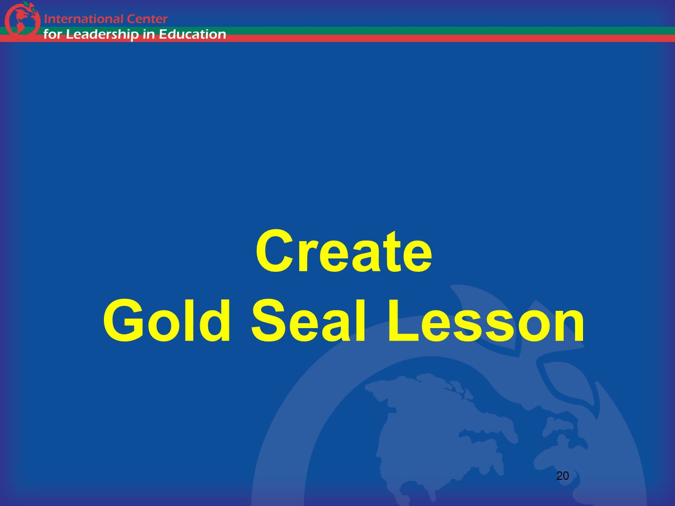 Create Gold Seal Lesson