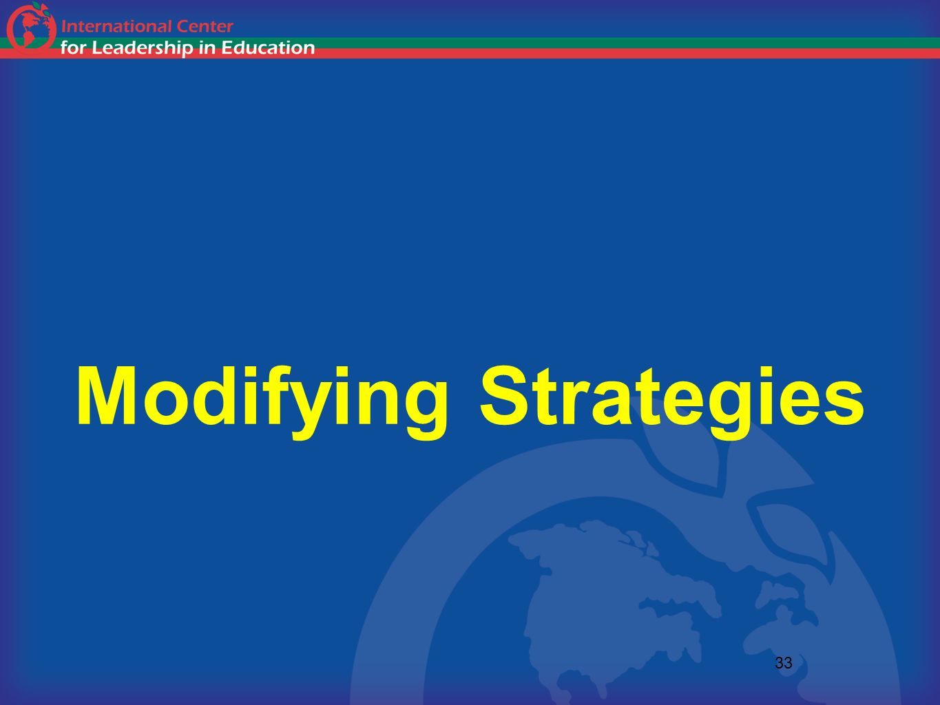 Modifying Strategies