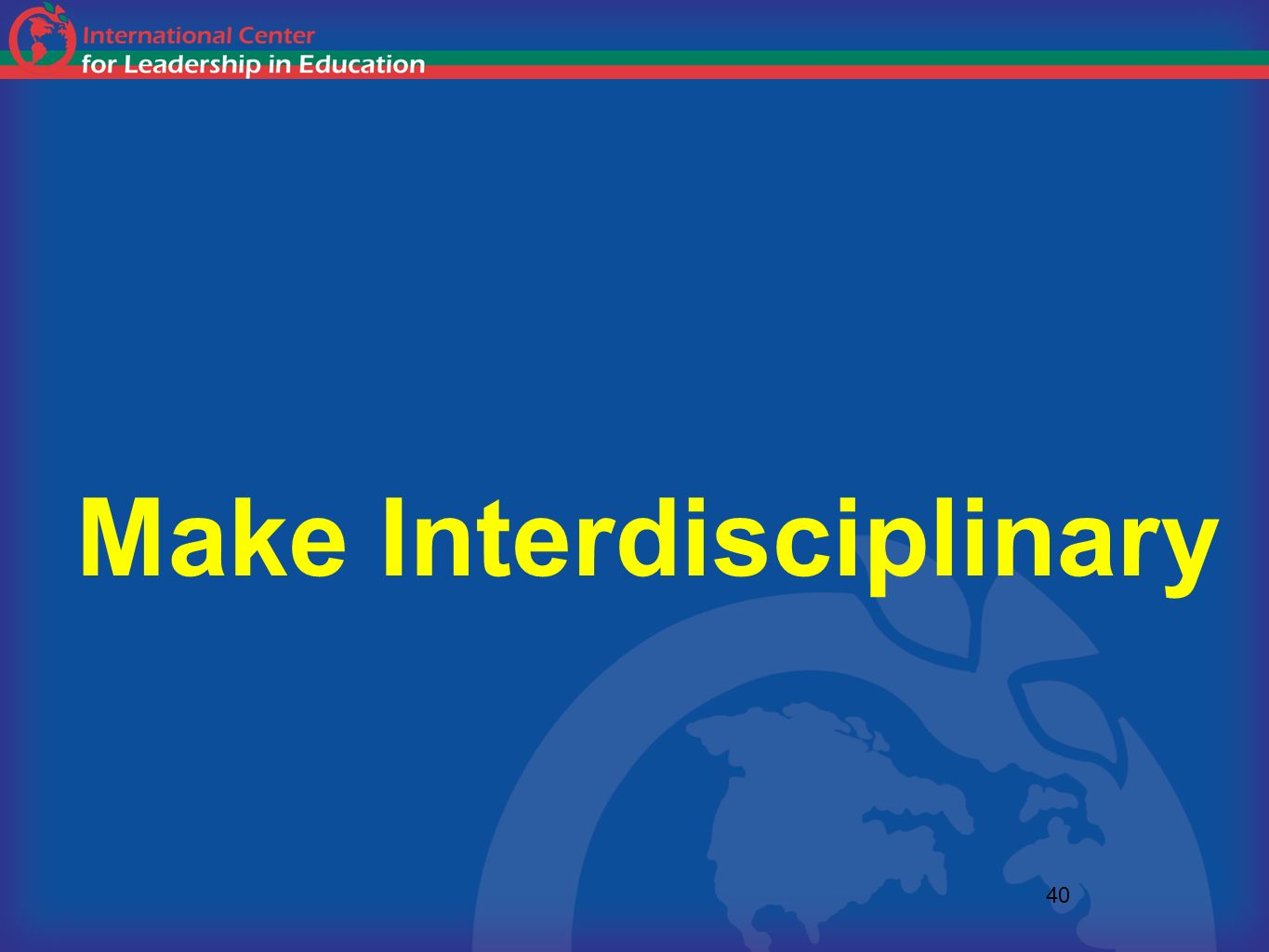 Make Interdisciplinary