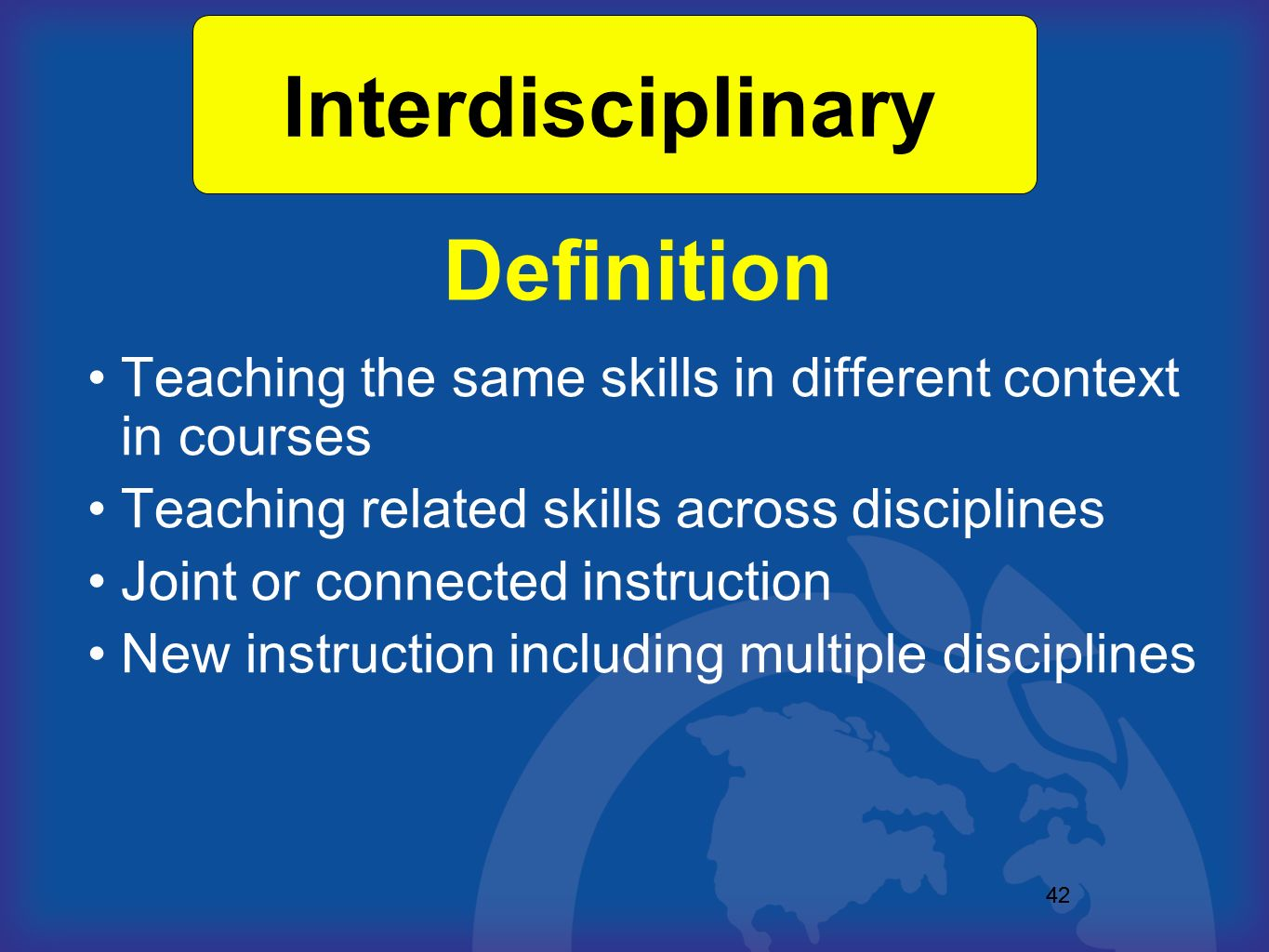 Interdisciplinary Definition