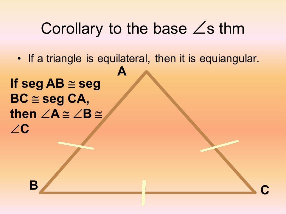 Corollary to the base s thm