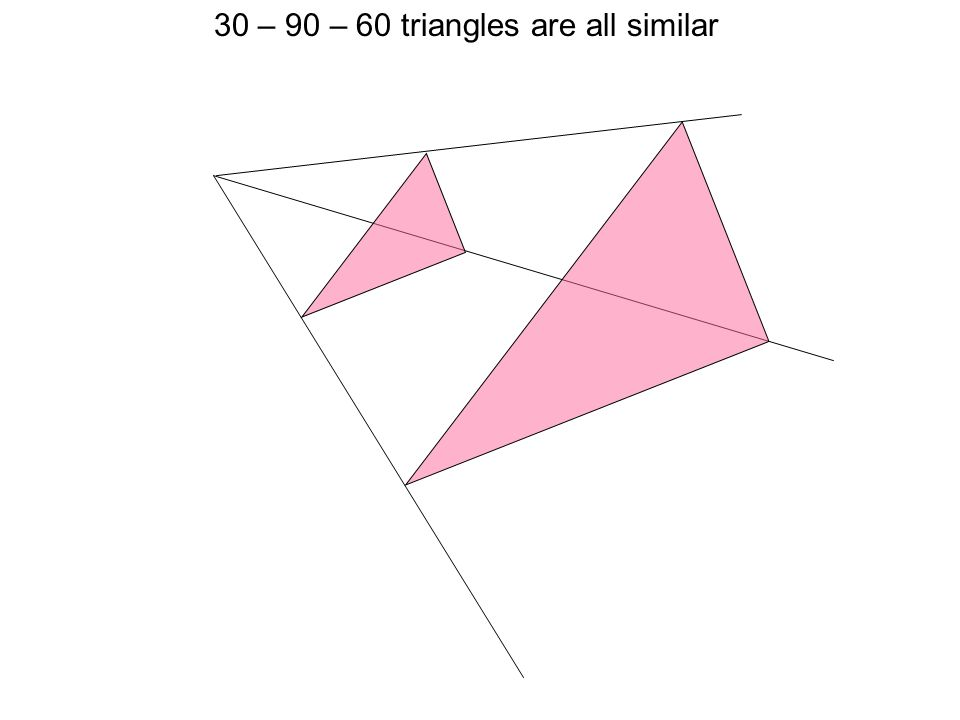 30 – 90 – 60 triangles are all similar