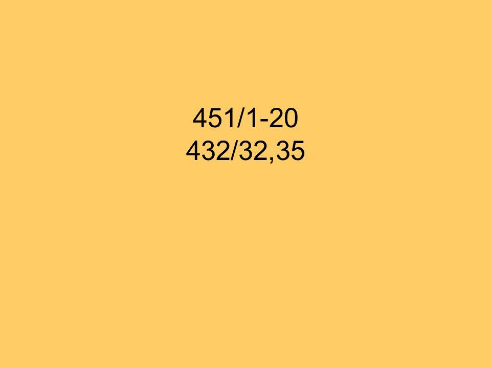 451/1-20 432/32,35
