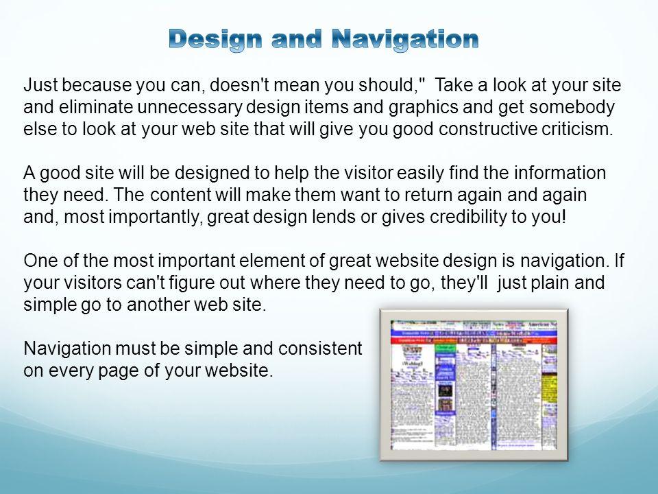 Design and Navigation