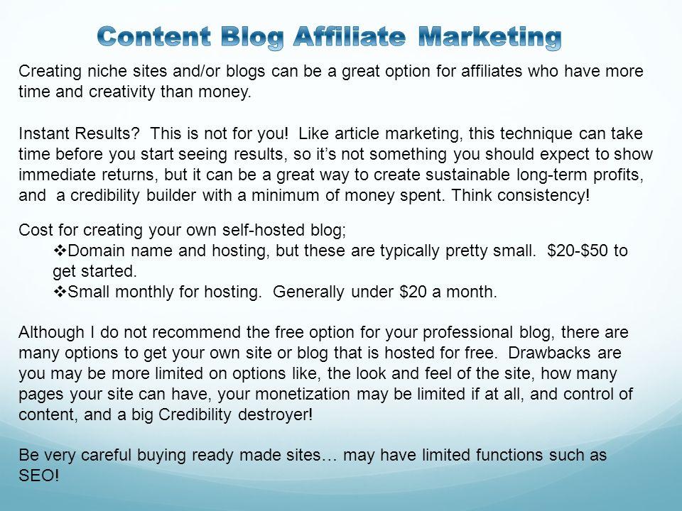 Content Blog Affiliate Marketing