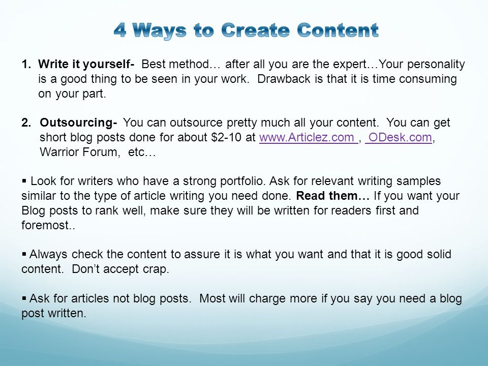 4 Ways to Create Content