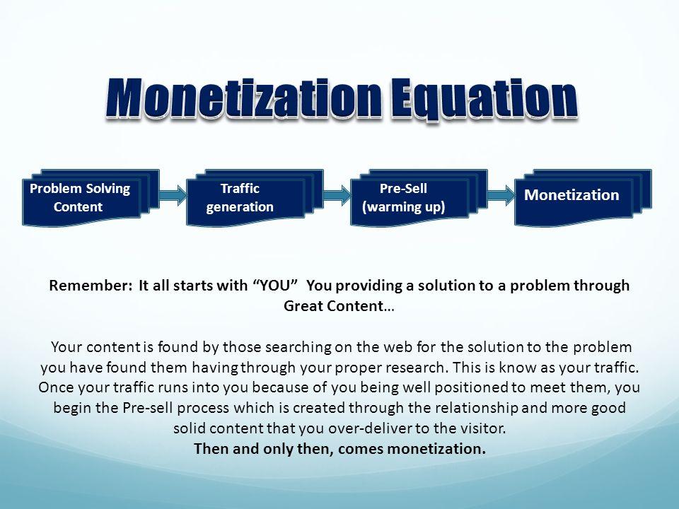 Monetization Equation Problem Solving Content