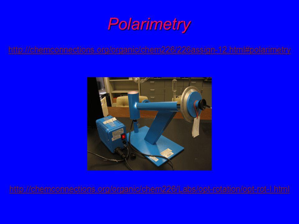 Polarimetry http://chemconnections.org/organic/chem226/226assign-12.html#polarimetry.