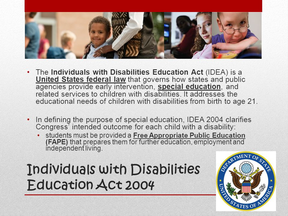 us policies to further students with disabilities Frequently asked questions about section 504 requirements for the education by school districts of students with disabilities.