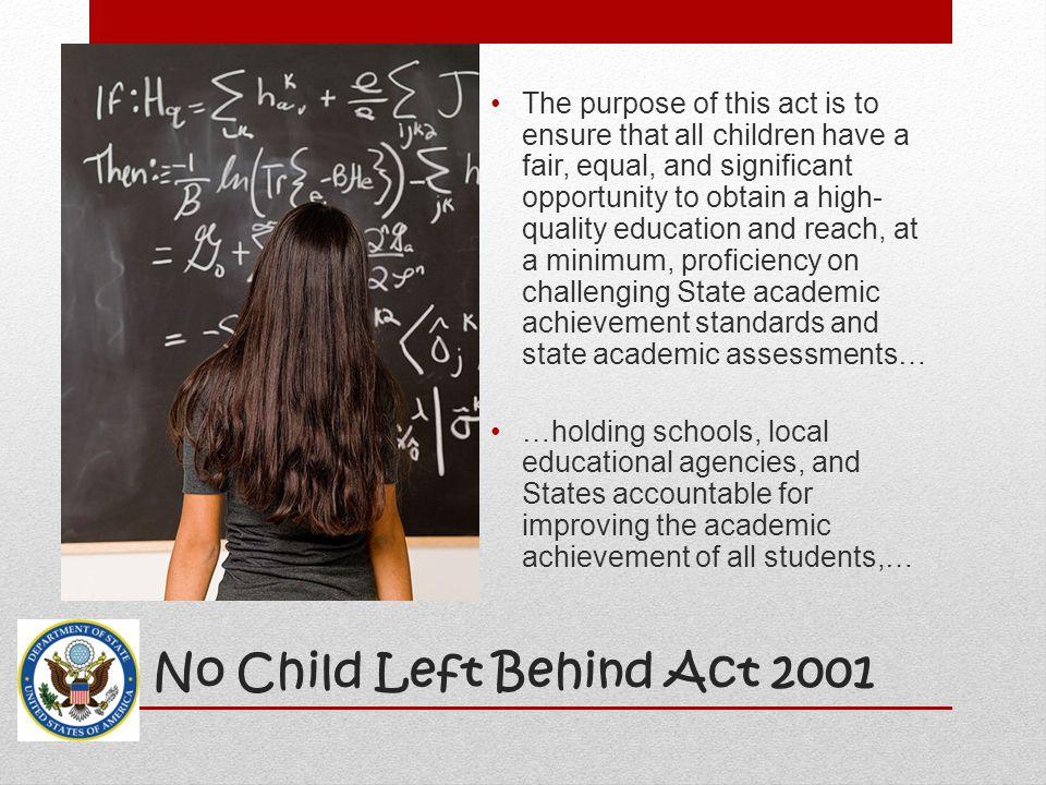 No Child Left Behind Act 2001