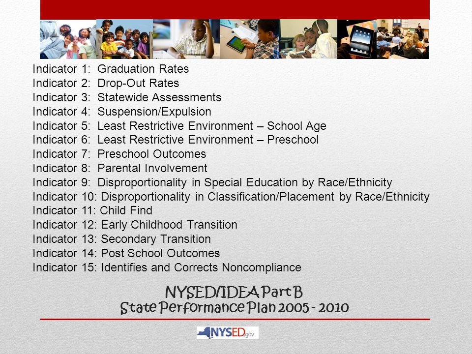 NYSED/IDEA Part B State Performance Plan 2005 - 2010