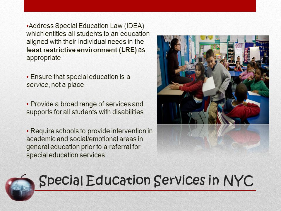 Special Education Services in NYC