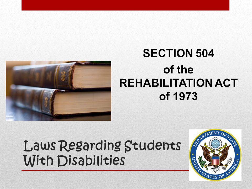 Laws Regarding Students With Disabilities