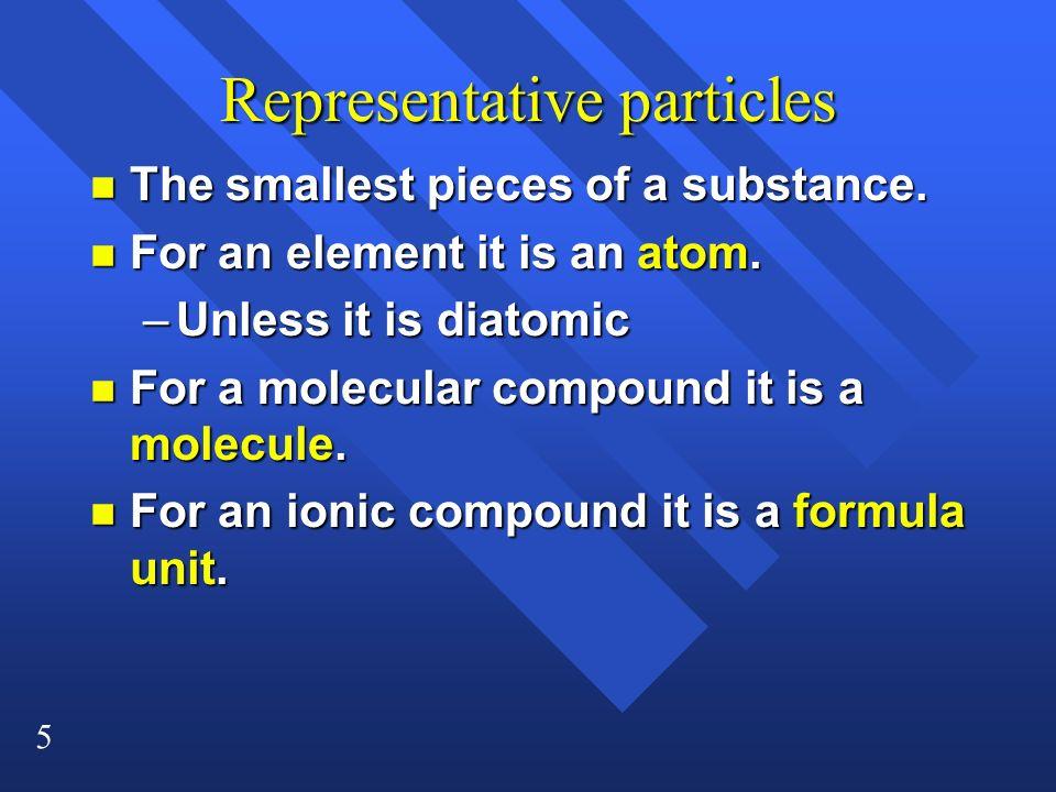 Representative particles
