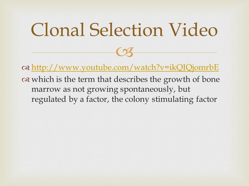 Clonal Selection Video