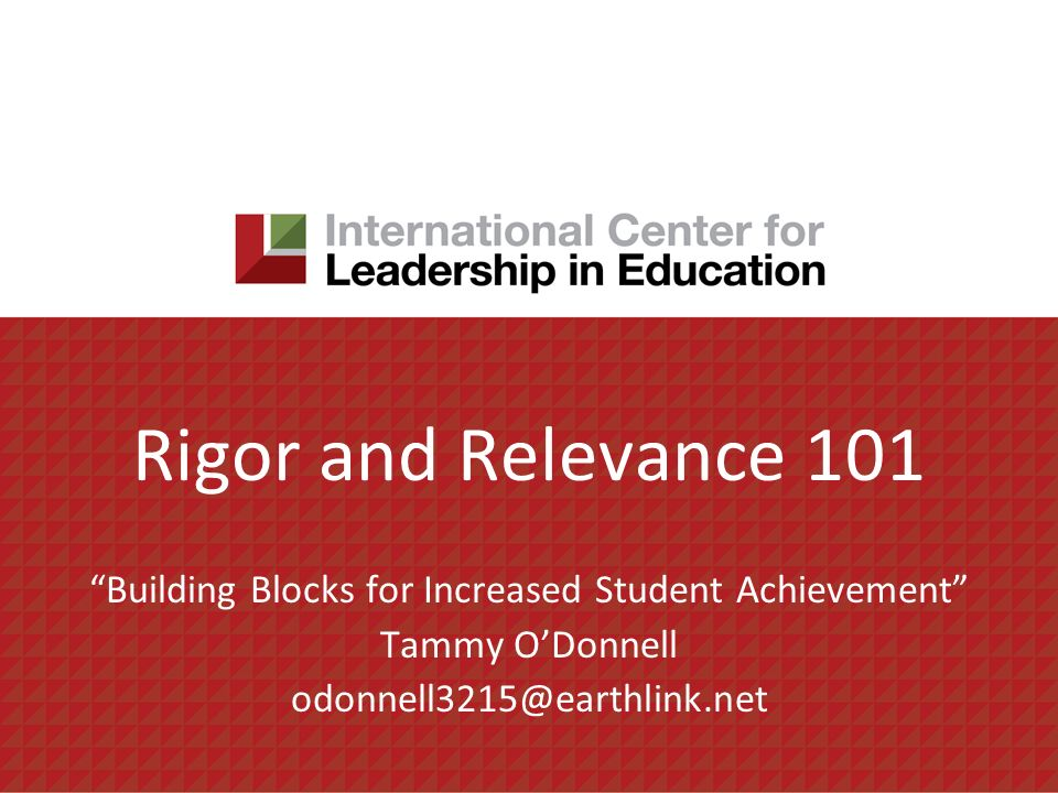 Building Blocks for Increased Student Achievement