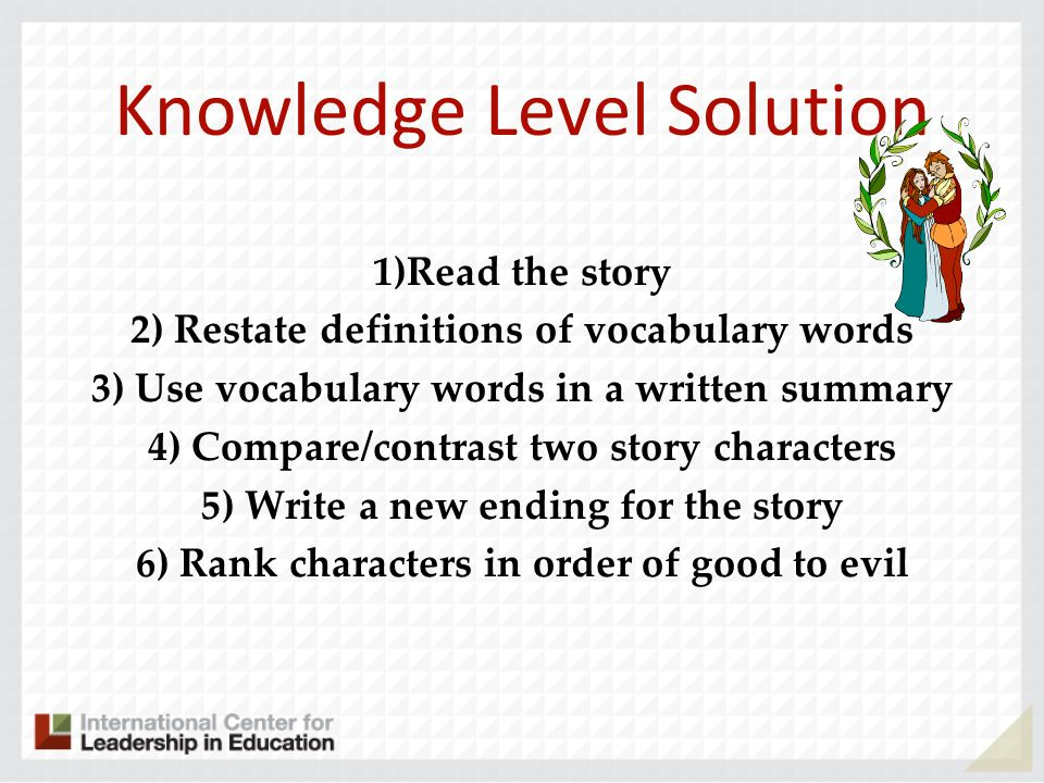 Knowledge Level Solution