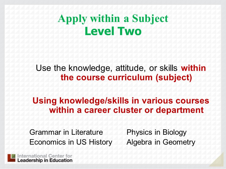 Apply within a Subject Level Two