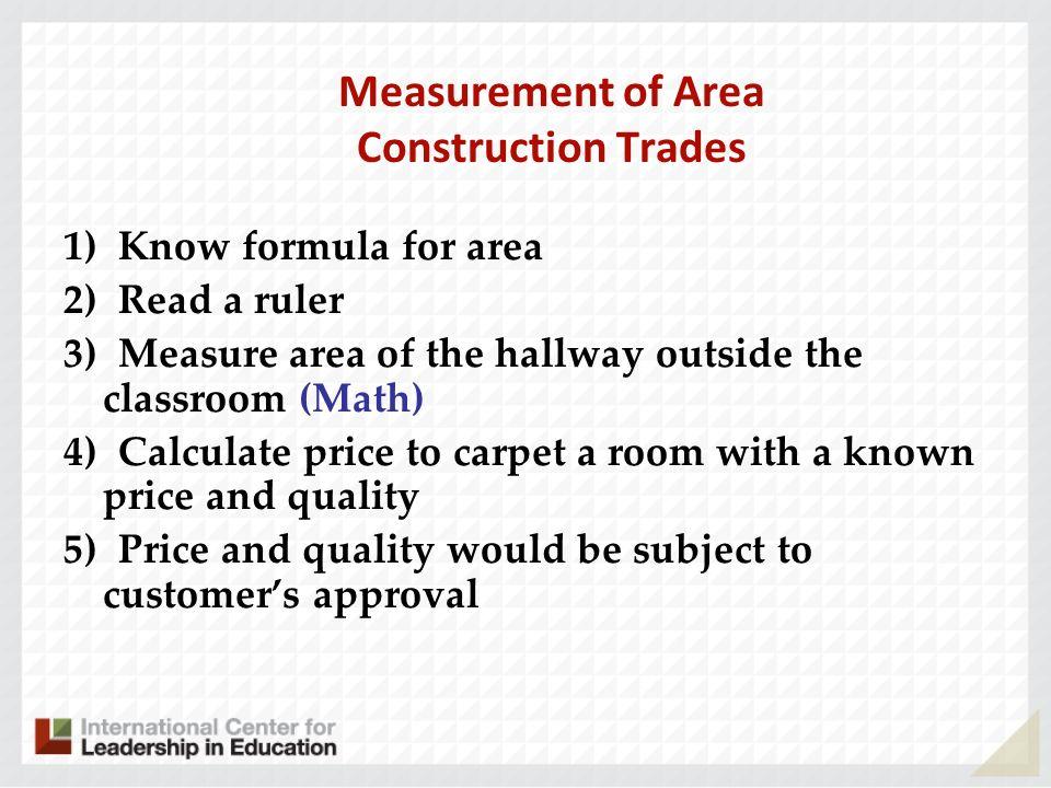 Measurement of Area Construction Trades