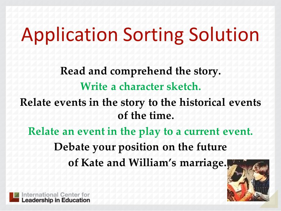 Application Sorting Solution