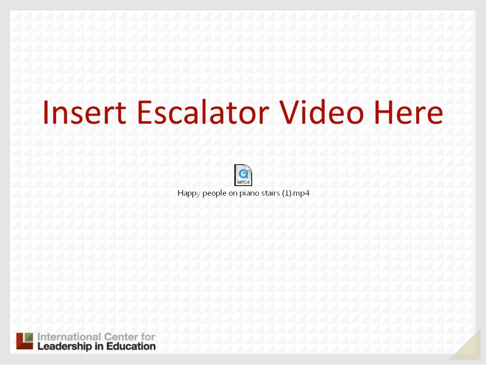 Insert Escalator Video Here