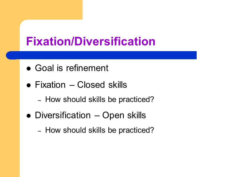 Fixation/Diversification