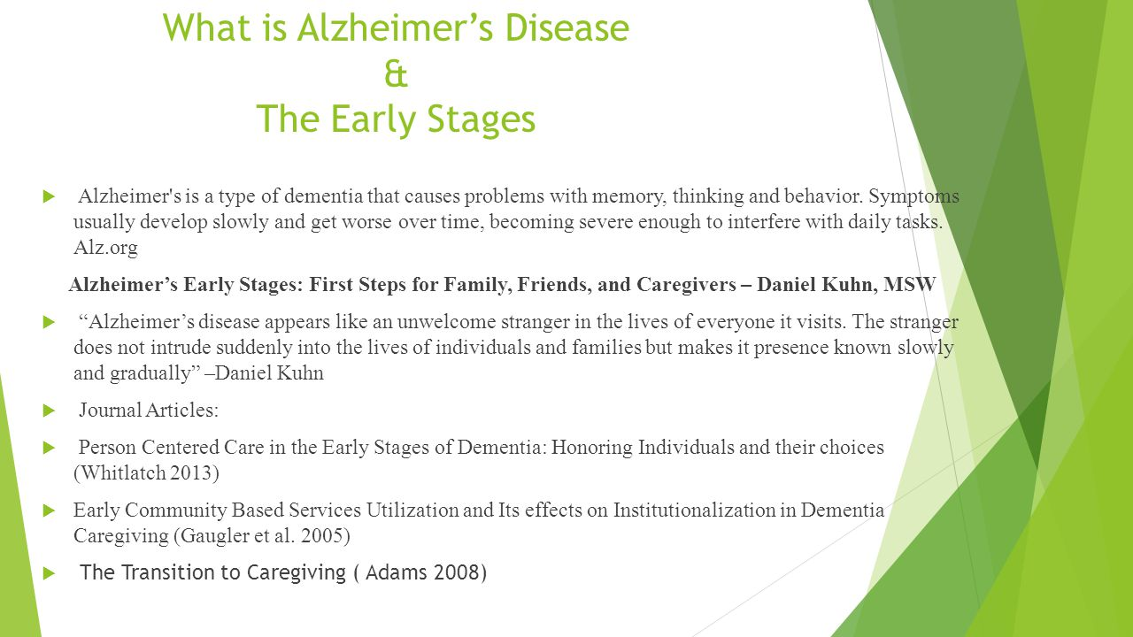 The effects of alzheimers disease on the victim and family