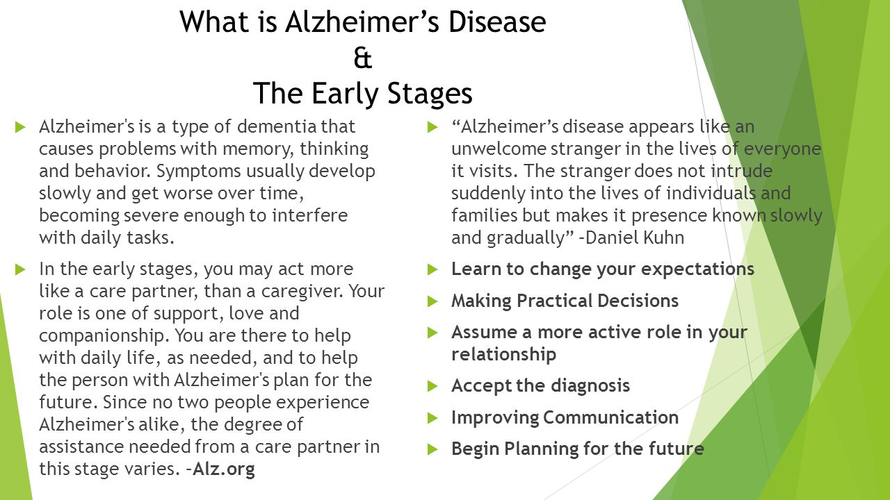 What is Alzheimer's Disease & The Early Stages