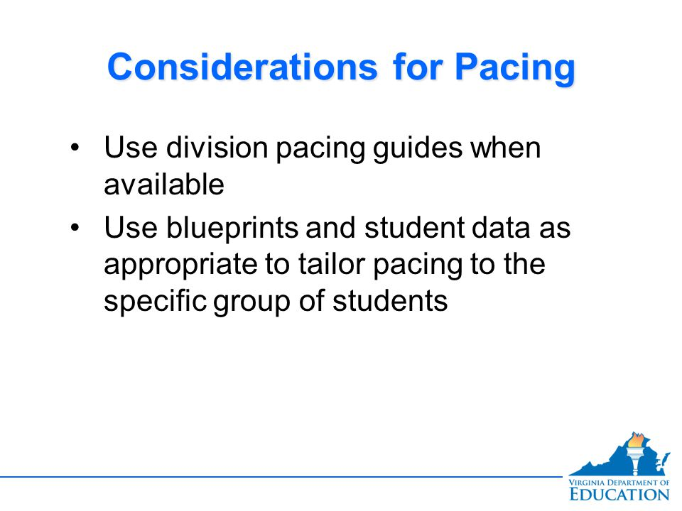 Considerations for Pacing