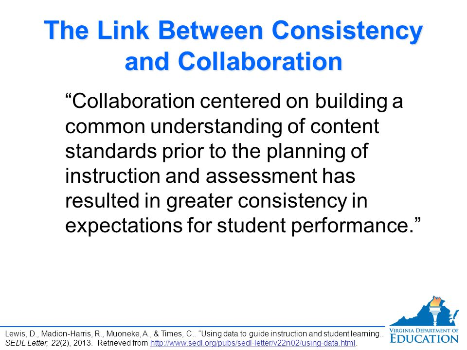 The Link Between Consistency and Collaboration