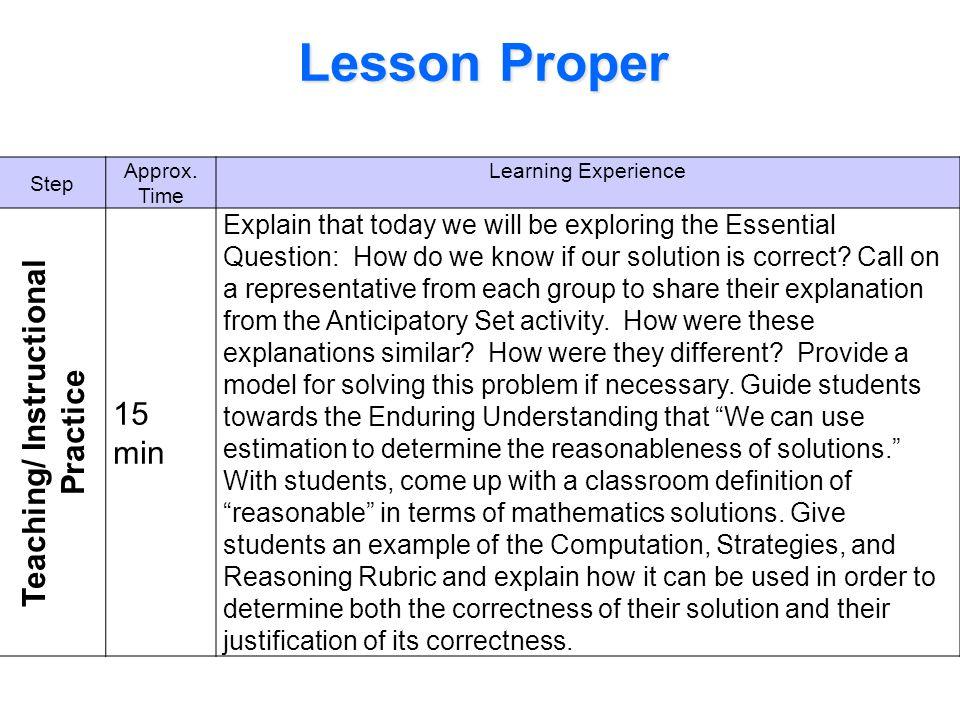 Teaching/ Instructional Practice