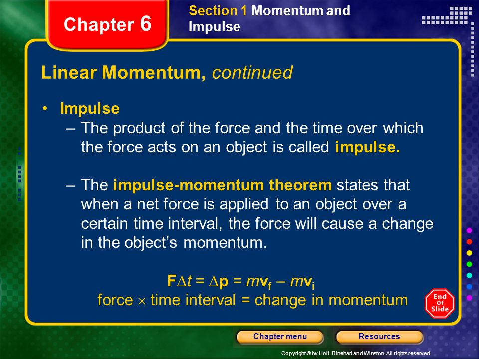 Linear Momentum, continued