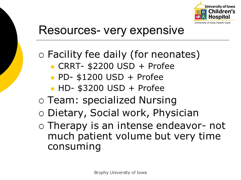 Resources- very expensive