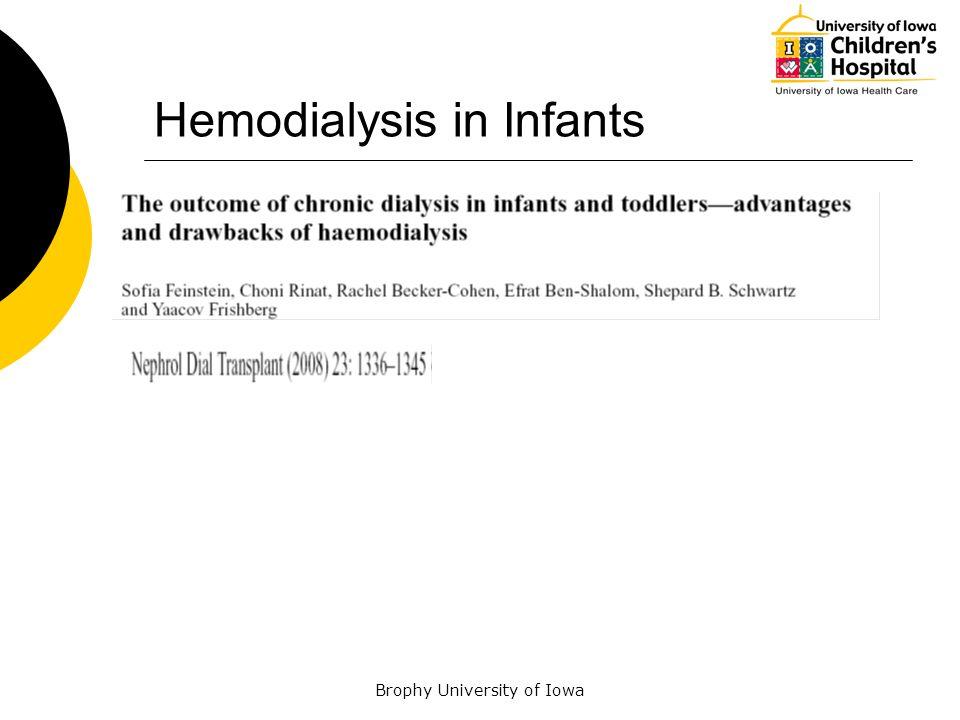 Hemodialysis in Infants