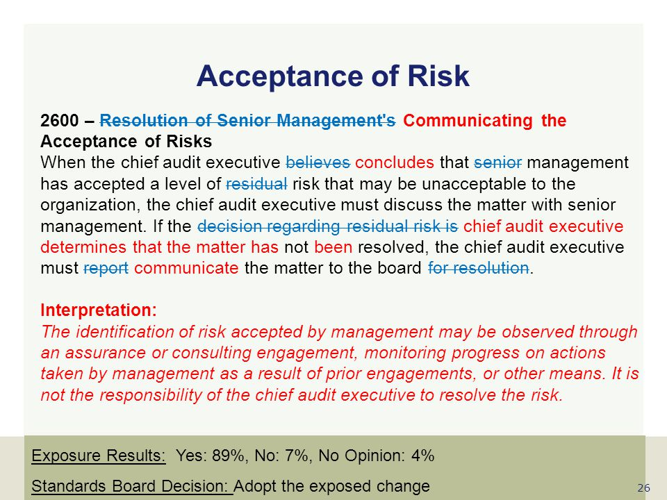 Acceptance of Risk
