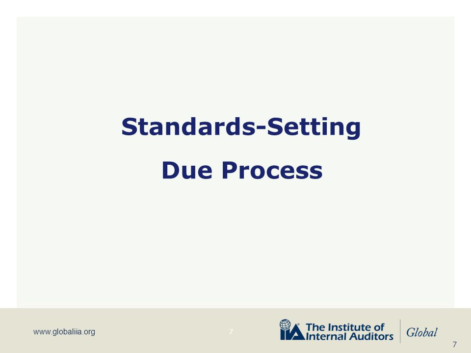 Standards-Setting Due Process